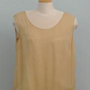 """1920's Silk Chiffon And Lace Ecru Dress      """"Downton Abby"""""""