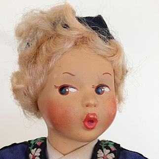 Baitz (Austria) costume doll representing Switzerland