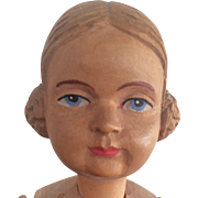 """10"""" Swiss Wooden doll to dress"""