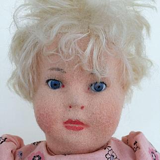 "US Zone Period Steiff Doll 13""- all original"