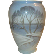 Vase, Trees, Snow, Sea, Bing and Grondahl, Denmark. 1958-1962