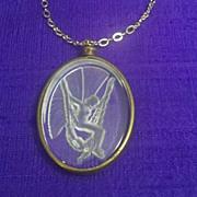 Fairy Necklace Glass Intaglio