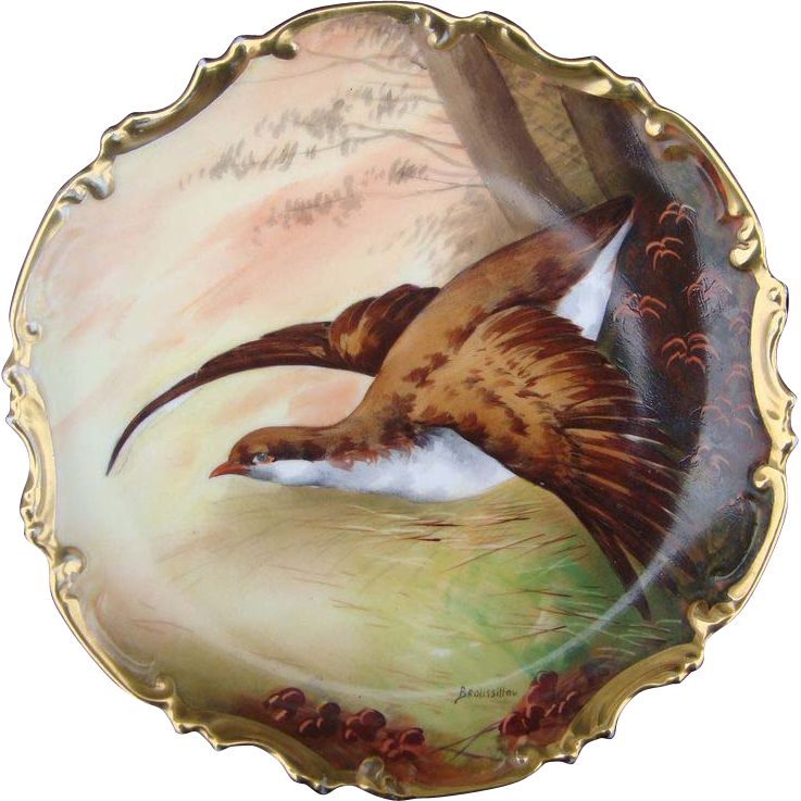Limoges Broussillon Game Bird Charger Plaque