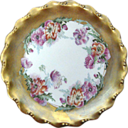 Coiffe Limoges Poppies Cabinet Plate 1891-1914