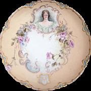 Rare Antique Haviland Limoges Cabinet Portrait Plate 1888-1896