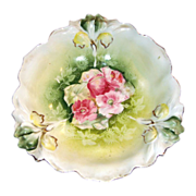 RS Prussia Blown Out Iris Mold Bowl Antique