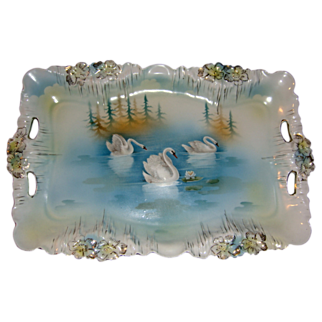 RS Prussia Swans Scenic Tray Icicle Mold
