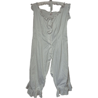 Antique Victorian Onesie Split Crotch Bloomers Ruffle Trimmed