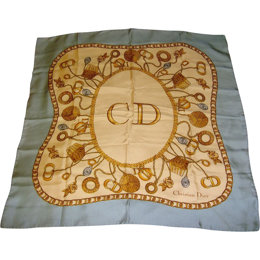 Christian Dior  Silk Scarf Vintage with Tags