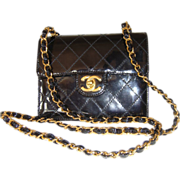 Vintage Authentic Black Chanel Purse