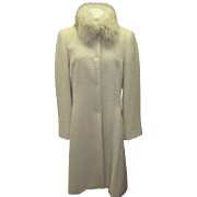 Alpaca Wool and Fox Fur Coat