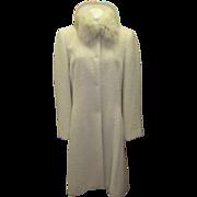 Alpaca Wool and Fox Fur Coat