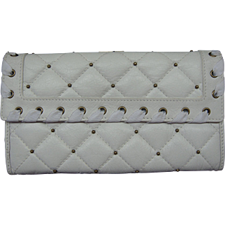 Betsey Johnson Wallet White Leather