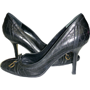 Christian Dior Heels Black Leather