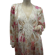 Olga Nightgown Peignoir Set Rare Color Pattern