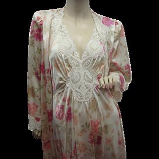 Olga Nightgown Peignoir Set Rare Color Pattern