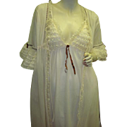 Scarce Olga Nightgown and Peignoir Robe Set