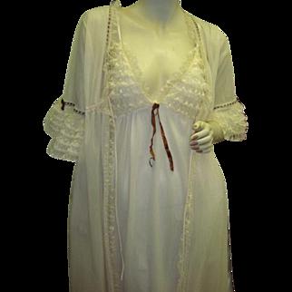 Extremely Rare Olga Nightgown and Peignoir Robe Set