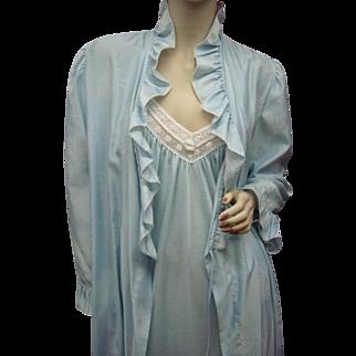 Vintage Dior Nightgown Peignoir Robe Size Large Creeds Toronto
