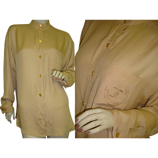 Chanel Silk Blouse Insanely Beautiful Buttons
