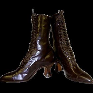 Victorian Boots High Top Original Box Unworn