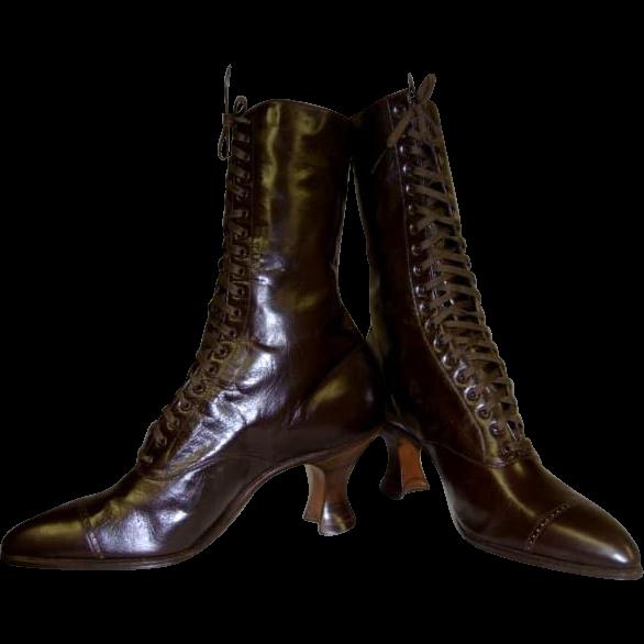 Victorian Boots Circa 1890-1900 Brand New With Original Box