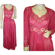 Olga Nightgown and Peignoir Robe Red  Massive 15 Foot Sweep