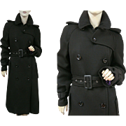 Dolce & Gabbana Black Wool Coat