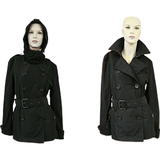 Burberry Brit Trench Coat Short Hooded