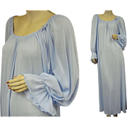 Vintage Miss Elaine Blue Nightgown