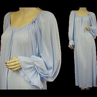 Vintage Miss Elaine Blue Nightgown