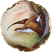 Signed Limoges Hand Painted Game Bird Charger