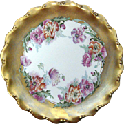 Limoges Double Mark Hand Painted Poppies Plate 1891-1914