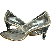 Wedding Shoes Vintage Lucite Heels Brand New in Box