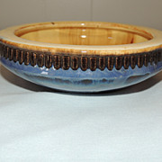 Fulper Pottery Bowl with Blue Flambe Finish