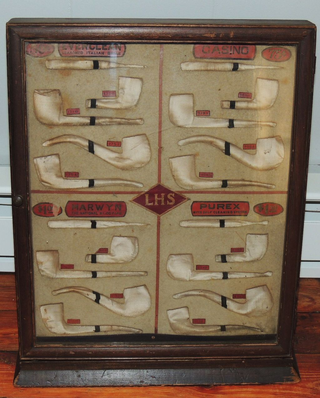 Antique L & H Stern Pipe Store Display Case