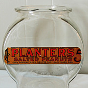 Planters Salted Peanuts Store Display Jar