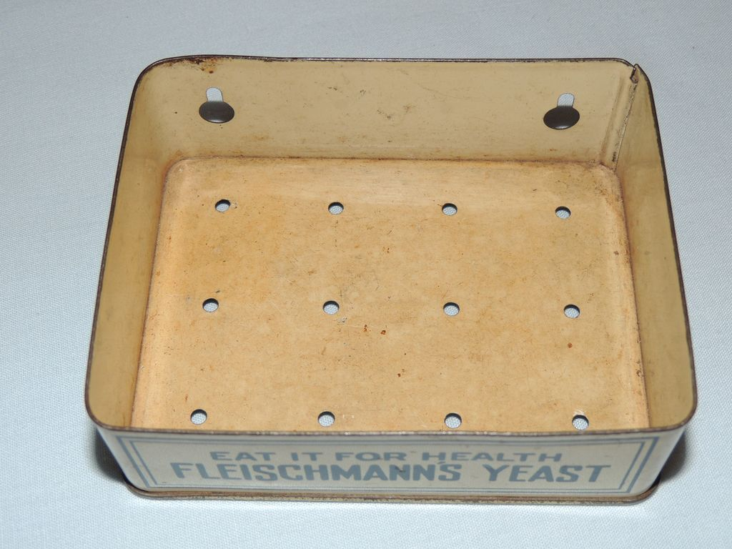 Antique Fleischmann's Yeast Advertising Metal Soap Dish