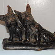 Hubley Cast Iron Doorstop Scotty Scottish Terrier Dogs