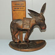 Swartz Baugh Folk Art Tin Donkey Mule Cigarette Dispenser
