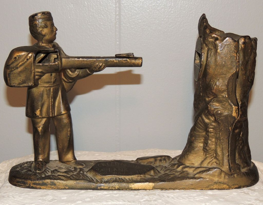 JE Stevens Creedmore Cast Iron Mechanical Bank