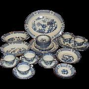 Wood & Sons Yuan Dinnerware Set Blue Transfer