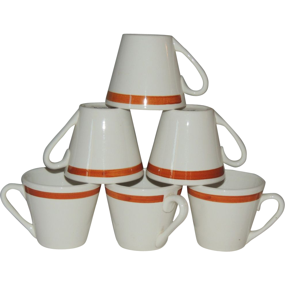 Jackson China Restaurant Cup Mug Set of Six