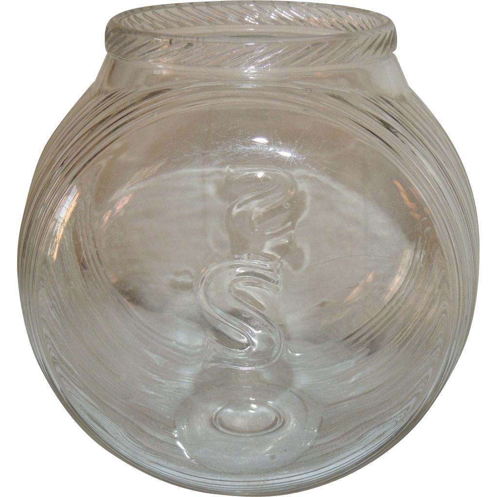 Vintage Sellers Glass Counter Display Canister Jar