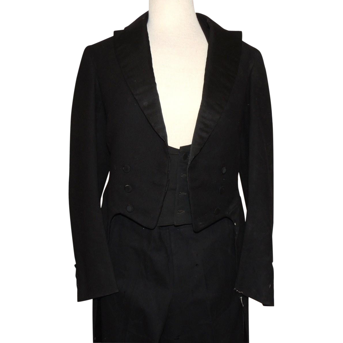 Victorian Edwardian Long Tail Wool & Silk Tuxedo Hart Schaffner Marx