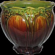 Brush McCoy Raduro Blended Glaze Jardiniere c1910