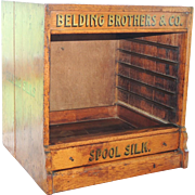 Belding Brothers Silk Spool Thread Oak Cabinet Case