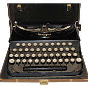 Remington Portable Typewriter with Case & Key