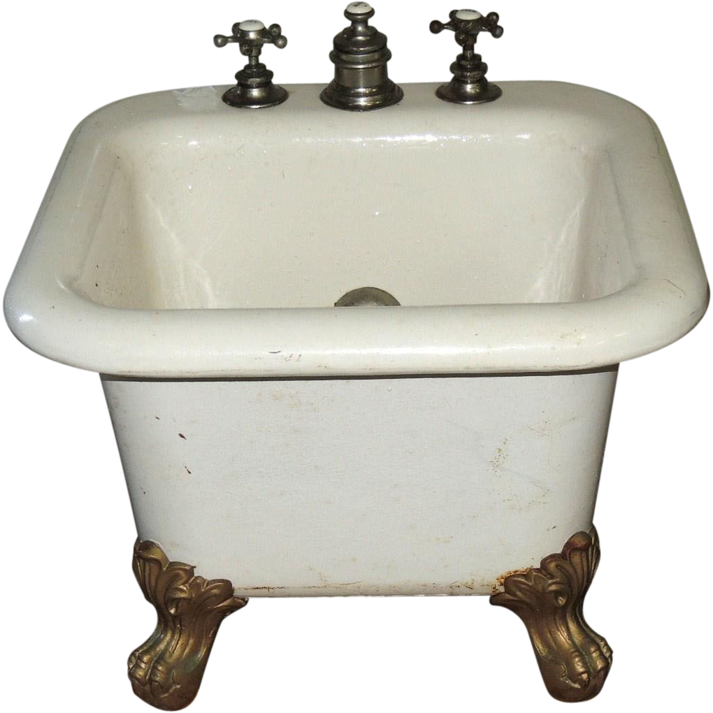 cast iron porcelain ball claw child baby foot bath tub from conjunktionjunktionantiques on. Black Bedroom Furniture Sets. Home Design Ideas
