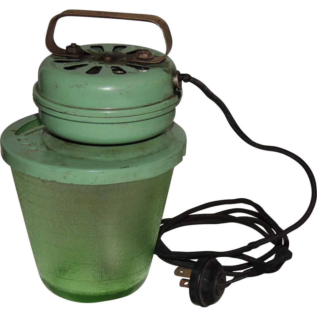 Pottery Electric Hand Mixer ~ Green depression glass bowl electric beater hand mixer